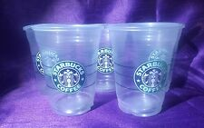 Starbucks Grande Disposable Clear Plastic Cold Cup 16oz OLD LOGO