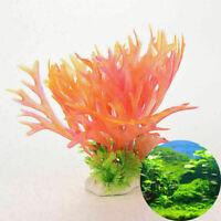 Aquarium Deko Koralle Korallenriff Künstliche Kunststoff NEUE Pflanzen-Deko Z7B0