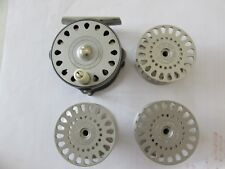 A1 stunning hardy bougle baby lightweight trout fly fishing reel + 3 spools