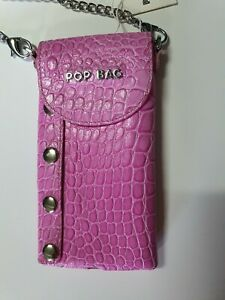 POP BAG by J&C Mobile cell phone Pink Leather Crossbody Small Shoulder Bag case