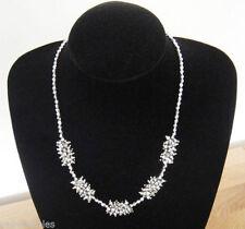 Collares y colgantes de bisutería brillante color principal plata