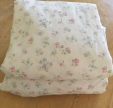 SIMPLY SHABBY CHIC COTTON CANDY PINK BLUE GREEN FLORAL TWIN FLAT & FITTED SHEETS
