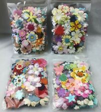 Pack of 100 Assorted Paper Flowers and Petals for Scrapbooking & Cardmaking