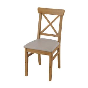 IKEA INGOLF Stuhl Antikbeize Nolhaga graubeige Massivholz Küchenstuhl Esszimmer
