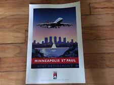 DELTA BOEING 747 RETIREMENT - MINNEAPOLIS / ST PAUL - POSTER - 18 x 12 - NEW