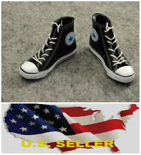 """❶❶1/6 Converse black All Star style lady Shoes Sneaker for 12"""" figure USA❶❶"""