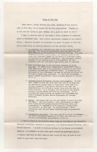 1968 ANTI VIETNAM WAR Illinois Political Flyer WILLIAM CLARK US SENATE Chicago
