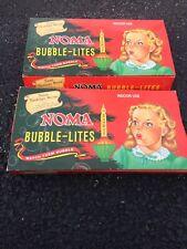2 Noma Bubble Lites Vintage Christmas Lights Sets Light Original Box Lot