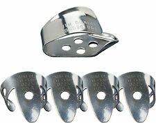 Jim Dunlop 33P.020 Nickel Silver Finger and Thumbpick Player Pack (Pack of 5)
