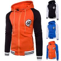 Anime Dragon Ball Goku Cosplay Jacket Sweatshirts Unisex Warm Coat Zipper Hoodie