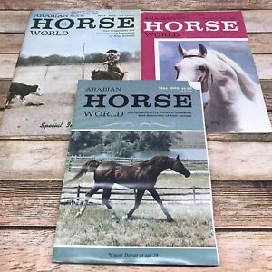 ARABIAN HORSE WORLD Magazines 1961 1963 1975 Lot