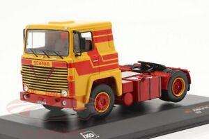 Superbe Ixo Diecast 1/43 1976 Scania Lbt 141 Camion / Tracteur / Cab Jaune &
