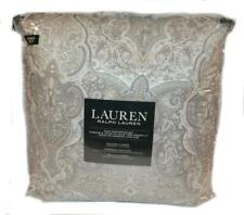 RALPH LAUREN Corot Paisley Neutral 3P KING COMFORTER SET NEW COTTON Grey Taupe