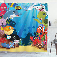"""Shower Curtain Set 70"""", 75"""", 84"""" Bathroom Decor with 12 Hooks by Ambesonne"""