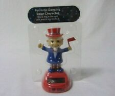 SOLAR POWER PATRIOTIC DANCING TOY CHARACTER FIGURE UNCLE SAM  NEW IN PACKAGE