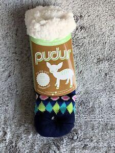 Pudus Slipper Socks Fluffy Warm Winter New! Great gift