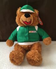 NWT NASCAR Plush Bear Sugarloaf Sugar Loaf Green Jacket Cap 2005 Stuffed Animal