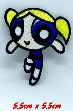 The Powerpuff Girls superhero cartoon Blue Iron on Embroidered Patch1401B
