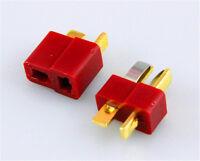 20 Paar (40 Stück) DEAN NYLON Hochstrom T-Stecker T-Plug Connector Goldstecker