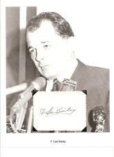 F Lee Bailey Autograph Lawyer My Lai Massacre OJ Simpson Sam Shepard Paul Dead