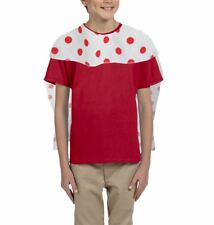 "Childs 24"" Red Nose Polka Dot Superhero Cape Comic / Sports Relief Fancy Dress"