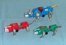 vintage LJN VOLTRON MOTORIZED LION FORCE green + red + blue lion lot