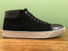 LANVIN Cap Toe Mid Sneakers Men's Size UK 10 US 11 Made In Portugal