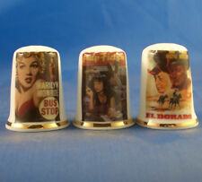 Birchcroft Thimbles -- Set of Three -- Iconic Movie Posters