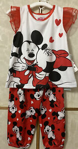 Disney Minnie Mouse Toddler girls pajama set 3T Disney Junior BN10