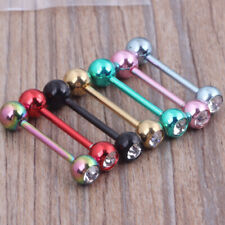 Piercing Bars Tragus Nipple Rings Stainless Steel Body Straight Barbell Tongue