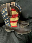 "Durango American Flag Western Ladies Patriotic Boots Lady Rebel 7 M 10.5"""