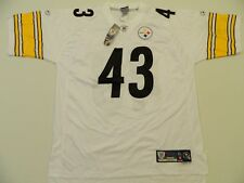 d7170ca3692 M67 Reebok Steelers Troy Polamalu on Field Premier White Jersey Men's XL