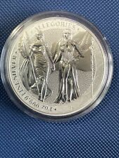 More details for 2019 germania mint 5 mark allegories columbia & germania 1oz silver bu