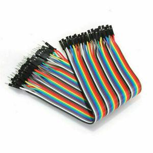 40pcs Dupont Cables MALE TO FEMALE Jumper GPIO Breadboard Wire Ribbon Pi Arduino