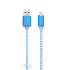 GLOW LED Flow Light 2A Micro USB Data Sync Charger Cable Lead For Android Phones
