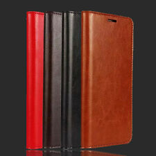 For Smart Phone New Genuine Real Leather Flip Wallet Case Cover Card Holder