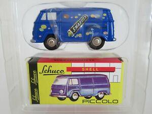 SCHUCO PICCOLO, 1:90 Scale, VOLKSWAGEN T2 VAN, SMARTIES, VW & BADGE SET, #05228