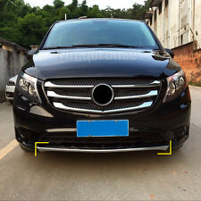 For Mercedes-Benz Vito W447 2014-2018 ABS Chrome Front Bottom Bumper Cover Trim
