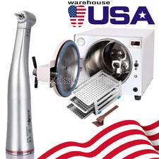 Us 18 L Dental Medical Autoclave Steam Sterilizer 15 Contra Angle Handpiece