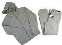 Nike Mens Full Fleece Tracksuit Hoodie Top & Jogger Bottoms - Grey BNWT