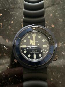 Seiko Prospex Blue Street Series Solar Mens Diver's Watch - SNE533P