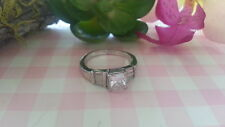 Beautiful White Princess CZs Sparkling Ring 925 Sterling Silver* Size 8.25 *B915