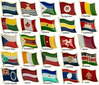 Flag Badge Country Flag Pin Flag Lapel Pins Emblem MedalTabard for Backpack Icon