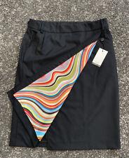 BNWT Paul Smith Black Label Black Swirl Design Wool Skirt Size IT 44 / UK 12