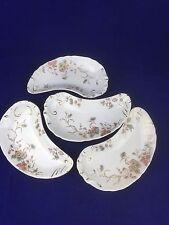 J & G Meakin Hanley England set 4 bone dishes blue pink floral gold white