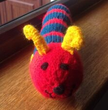 NEW CATNIP TOY -HORIS THE CATERPILLAR, RED/BLUE ,SOLD 4 WHINNYBANK CAT RESCUE
