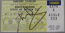 "DARREN LOCKYER Hand Signed ORIGINAL Qld Game 3 Ticket ""Last Game"" NOT A COPY"