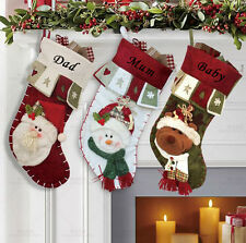 Personalized name 3D Christmas stocking decoration holiday gift collection bag