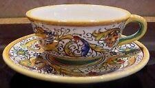 Deruta Majolica Raffaellesco Cups/Saucers - SET OF 4