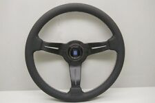 Nardi Deep Corn Steering Wheel - 350mm - Black Leather with Tri-Color Stitching